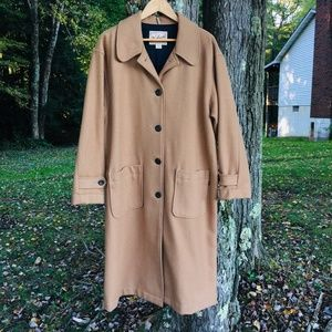 Vintage Woolrich Long Coat 14P 16P 100% WOOL